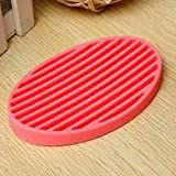 Home Bathroom Silicone Flexible Soap Dish Toilet Soap Holder