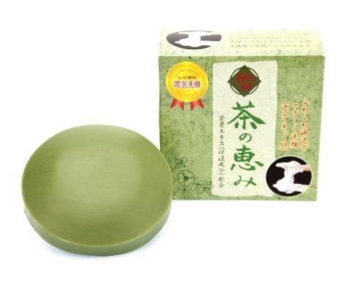 茶の恵み 70g お茶の石けん 緑茶石鹸 緑茶石けん