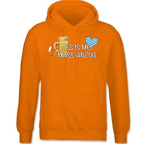Shirtracer Oktoberfest Herren - Mass-Anzug - L - Orange - F421 - langärmeliger Herren Kapuzenpullover / Hoodie
