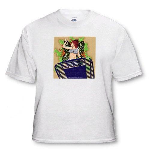 SPLAT Fairy Squashed Humor Fantasy Digital Art - Adult T-Shirt Small