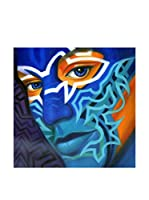 LegendArte Pintura al Óleo sobre Linezo Occhi Blu 60X60