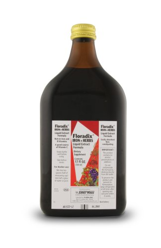 Salus Haus Floradix Iron + Herbs 17-Ounce Glass Bottle