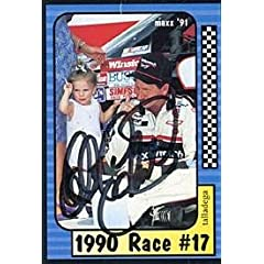Dale Earnhardt Autographed 1991 Maxx No.187 of 240 Racing Card - Sports Memorabilia by Sports Memorabilia