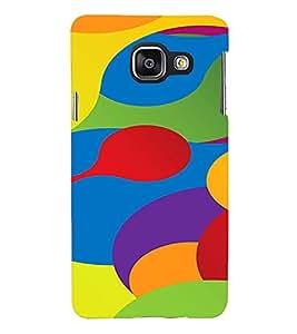 Printvisa Lite Colour fonts Backcover For Samsung A3 (Multi)
