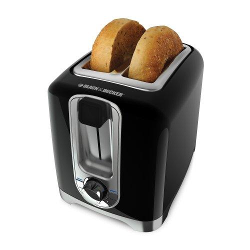 Imagen de Negro & Decker TR1256B de 850 W y 2-Slice Toaster con Bagel Función y bandeja extraíble para migas