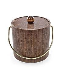 Mr. Ice Bucket 951-1 Walnut Woodgrain Ice Bucket 3-Quart