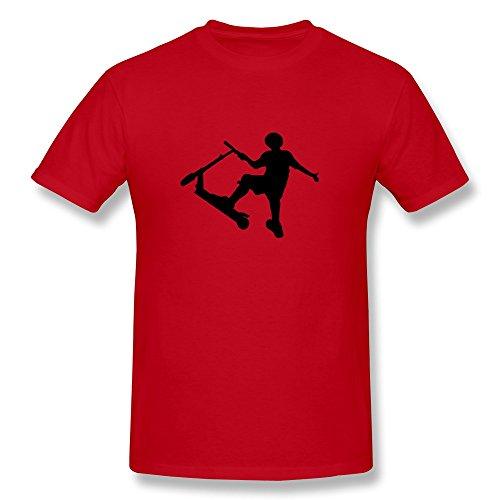 Hd-Print Men'S Tee Stunt Scooter L Red