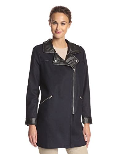 Miss London Women's Long Moto Jacket