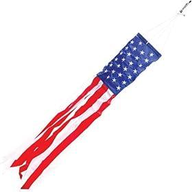 "American Flag Windsock 40"""