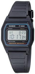 Casio - F-28W-1QYGF - Montre Homme - Quartz Digital - Cadran Noir - Bracelet Résine Noir par Casio