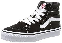 Vans Kid Shoes SK8-Hi Black White Sneakers (3 M US Little Kid)