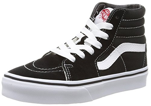 Vans - K Sk8-Hi, Sneakers Alte infantile, Nero (Black/True White), 32.5