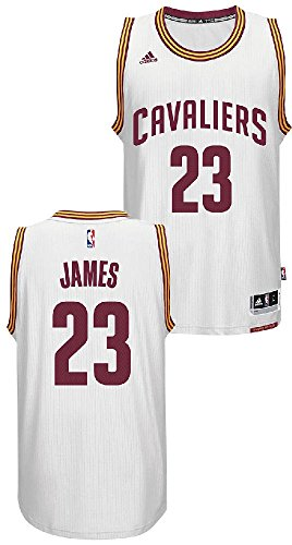 Lebron James Youth Cleveland Cavaliers White Replica Basketball Jersey by Adidas