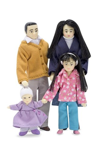 Melissa & Doug Victorian Doll Family - Asian