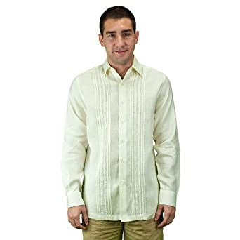 Mens long sleeve beach wedding shirt at amazon men s for Mens ivory dress shirt wedding