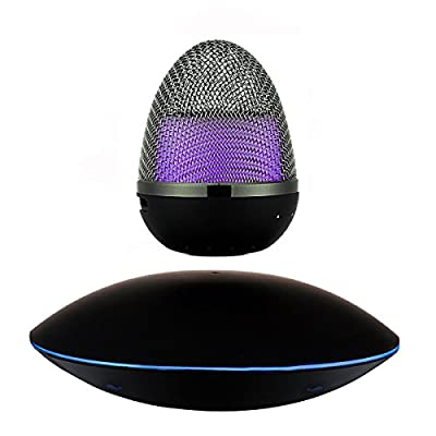 PowerLead Flat F500 PowerLead Portable Wireless Bluetooth Floating Speaker Multi-color LED Levitating Bluetooth Speakers Wireless Floating Speaker Bluetooth 4.0 Floating Sound Speakers