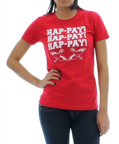 Womens Hap-pay Hap-pay Hap-pay Happy Happy Happy Duck Hunting Tri-Blend Short Sleeved T-shirt