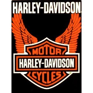 Harley Davidson Orange Wings Super Plush Throw Blanket Queen 78