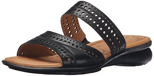 Naturalizer Women's Jenaya Flat Sandal, Black, 6.5 W US (Naturalizer Womens Sandals compare prices)