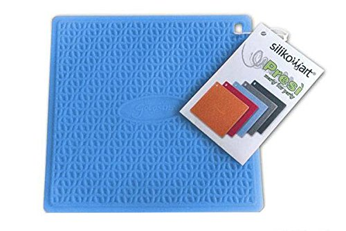 Silikomart Presi Textured Silicone Trivet/Pot Holder/Jar Opener, Blue