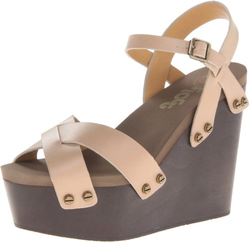 Flogg Women'S Lillana Wedge Sandal,Taupe,8 M Us front-1036897