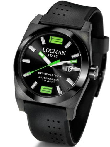 locman mens watches uk watches store locman men s stealth automatic watch 0205bkbkngr0gok