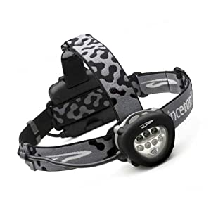 Corona Headlamp, 8 L.E.D., Black Body