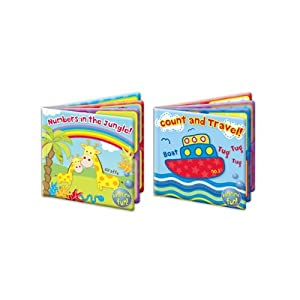 """First Steps"" Baby Waterproof Floating Bath Book Educational & Fun Bath Toy for Baby/Kids"