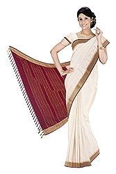 Srinidhi Silks Beige Silk Sari (Ssi 2016 06 B)