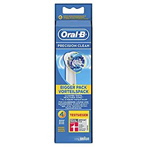 Braun Oral-B EB20-4 Precision Clean Replacement Rechargeable Toothbrush Heads (Pack of 4) (Packaging May Vary)