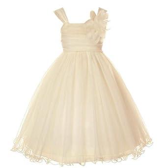 d1904b7cdefa CHAMPAGNE FLOWER GIRL DRESSES - Sanmaz Kones