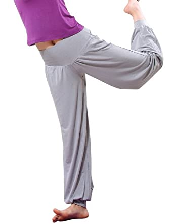H:oter Womens Soft Elastic Waistband Fitness Yoga Herem Pants, Colors Available, Yoga & Pilates, Price/Piece - Grey