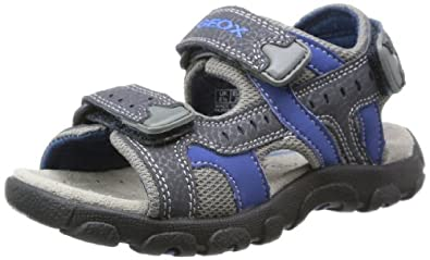 Geox Boys Jr Sandal Strada B Fashion Sandals J4224B0CE14C0700 Navy/Avio 11.5 UK Child, 30 EU
