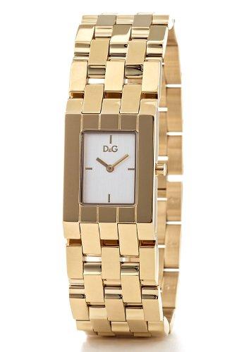 Dolce & Gabbana DW0742 - Reloj analógico de cuarzo para mujer con correa de oro amarillo, color dorado