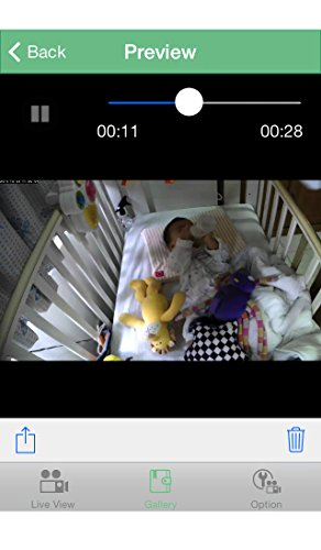 Gynoii WiFi Video Baby Monitor with HD Night Vision and Time-Lapse for iPhone and Android Phone
