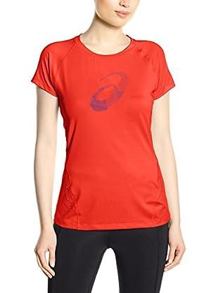 Asics Camiseta Manga Corta L2 Graphic (Rojo)