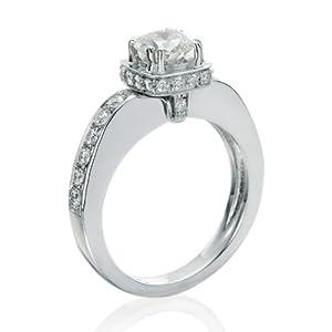 Diamant Ring 1.50 Ct W G/SI1 Round 18 Karat (750) Weißgold (Ringgröße 48-63)