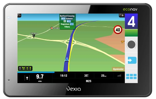 Vexia Econav 480 GPS Satellite Navigation Unit for Western Europe