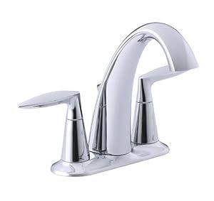 KOHLER K-45100-4-CP Alteo Centerset Lavatory Faucet ...