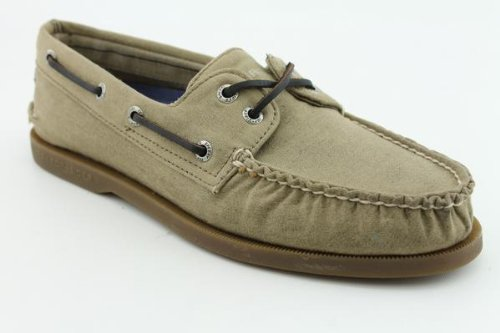 Sperry Top Sider A/O Oil Cloth New Boat Shoes Tan Mens