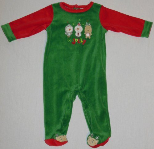 Nursery Rhyme Boy's Baby Holiday Coveralls (0-3