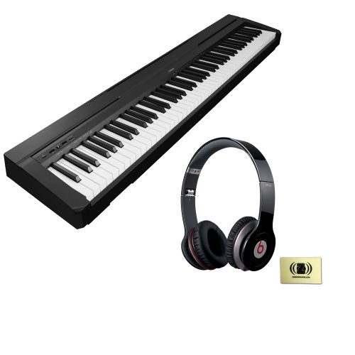 Yamaha P-Series P-35 88-Key Digital Piano With Graded Hammer Standard Keyboard And Built-In Speaker System Bundle With Beats By Dr. Dre Solo Hd On-Ear Headphones (Black) And Custom Designed Zorro Sounds Instrument Cloth