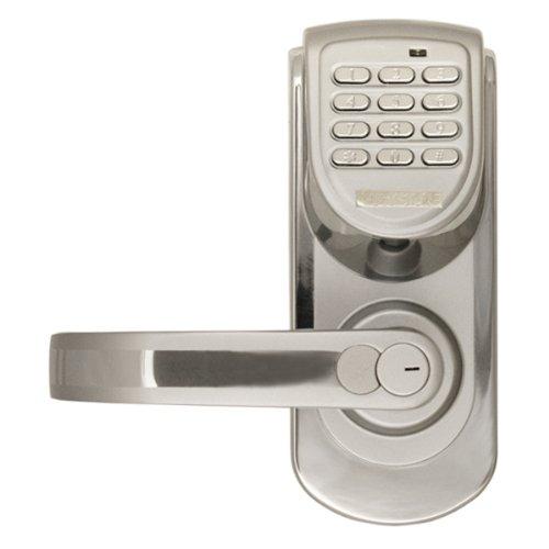 Lockstate Ls-6600-L-S 200-Code Keyless Digital Door Lock, Left-Hand, Silver