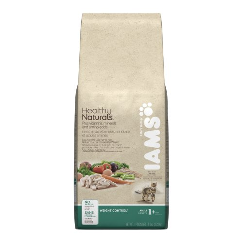 See Iams Healthy Naturals Adult Cat Weight Control, 6-Pound Bags