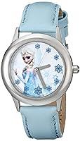 "Disney Kids' W000971 ""Frozen Tween Snow Queen Elsa"" Stainless Steel Watch with Blue Band from Disney"