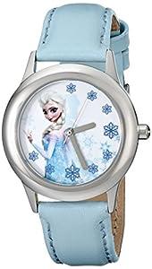 Disney Kids' W000971 Frozen Tween Snow Queen Elsa Watch with Blue Band