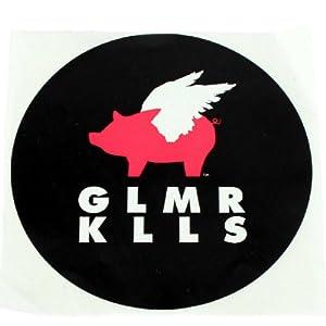 Glamour Kills - Flying Pigs Logo Sticker, Size: O/S, Color: Black
