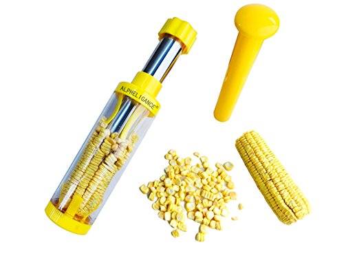 ALPHELIGANCE Household Stainless Steel Corn Kerneler Stripper Threshing Corn Cooking tools (Corn Starch Container compare prices)