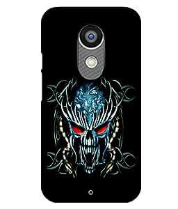 printtech Danger Skull Design Back Case Cover for Motorola Moto X2 , Motorola Moto X (2nd Gen)