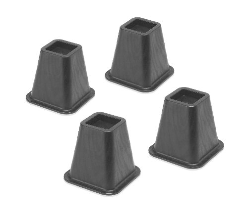 Why Should You Buy Whitmor 6511-3349-BLK Bed Risers 4 Count Black